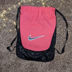🌿Nike drawstring pink bag backpack